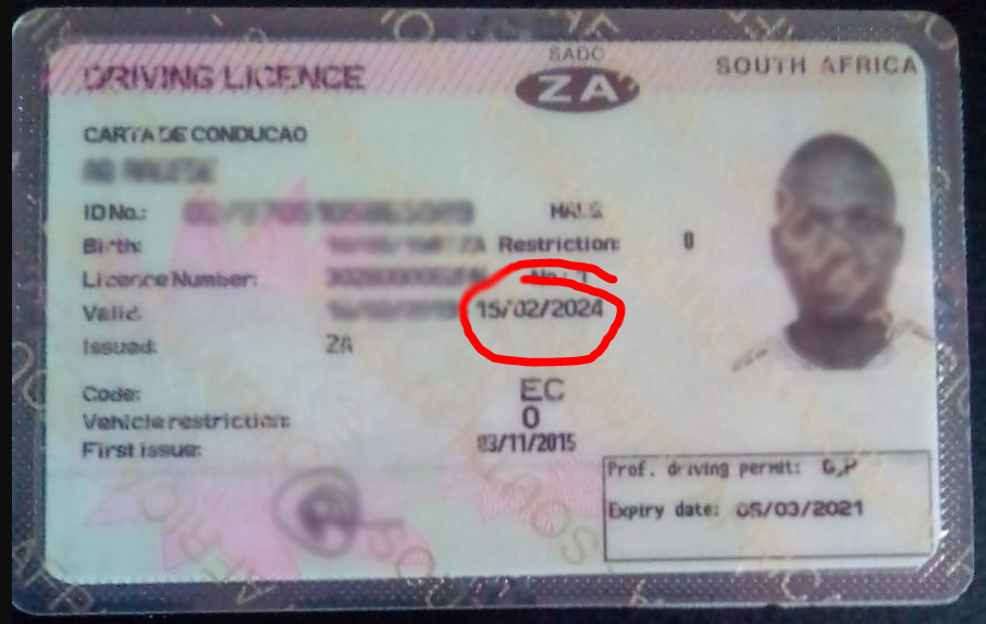 South African Driver's Licence